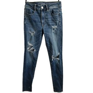 American Eagle Skinny Distressed Jeans Size 2